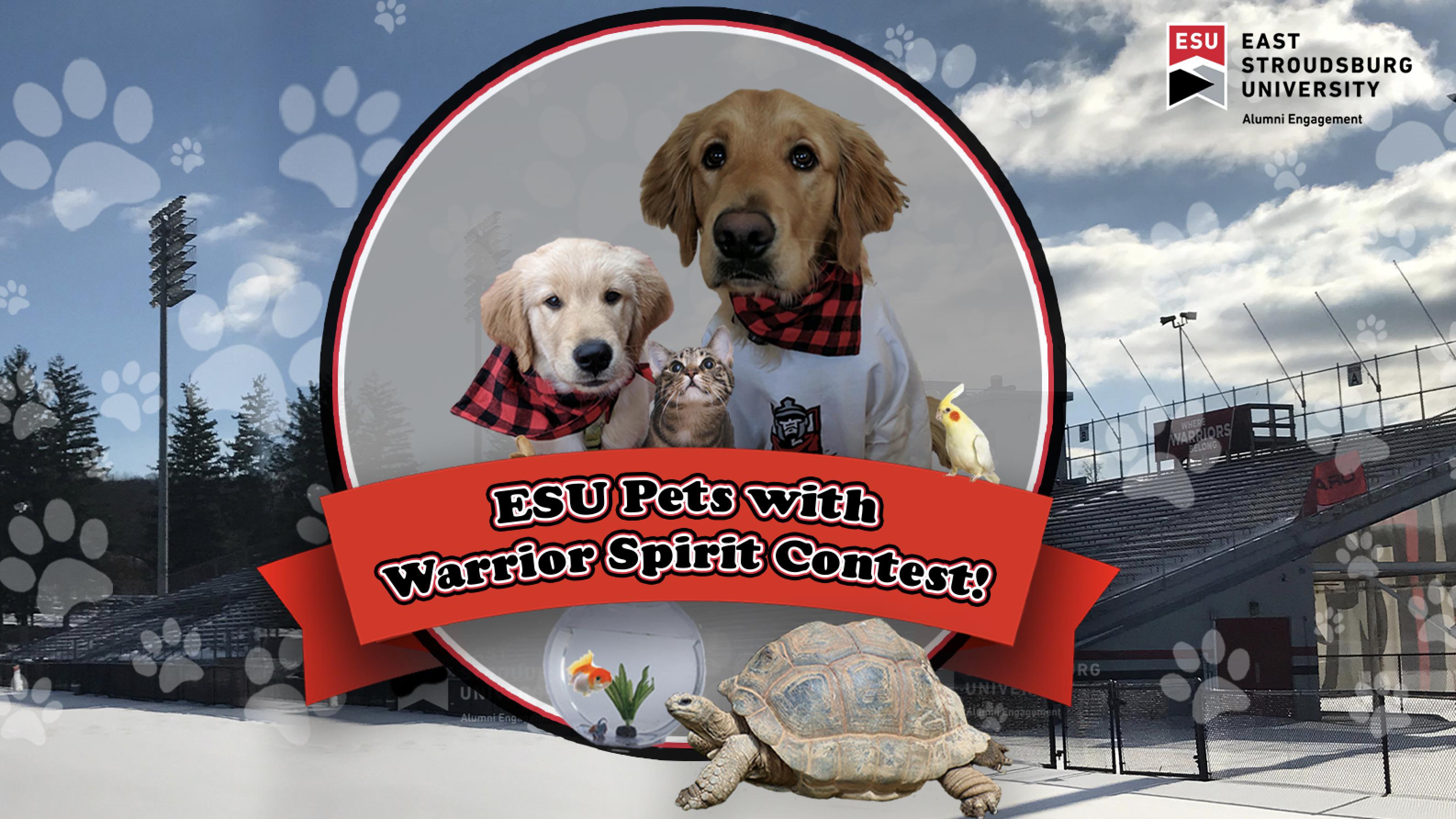 Enter the ESU Alumni Pets with Warrior Spirit Contest