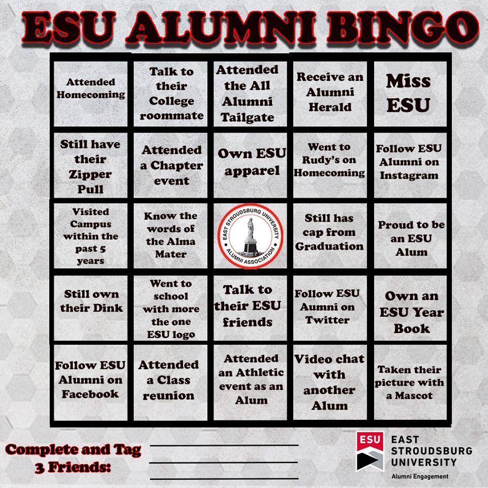 ESU Alumni Bingo