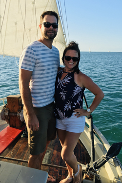 ANNIE HAMER BRIENING '06 AND SHANE BRIENING '05 TAKE THEIR LOVE TO KEY WEST