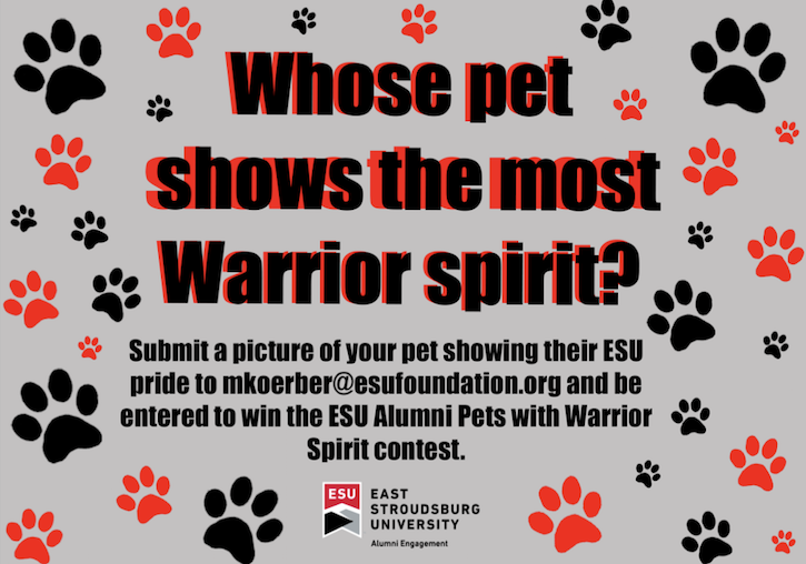 ESU Alumni Pets with Warrior Spirit