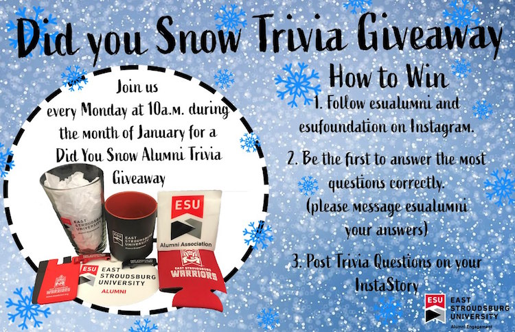 Did you Snow Trivia Giveway